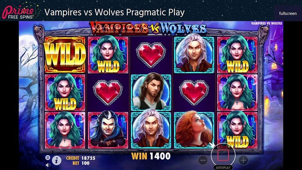Игровой автомат Vampires vs Wolves